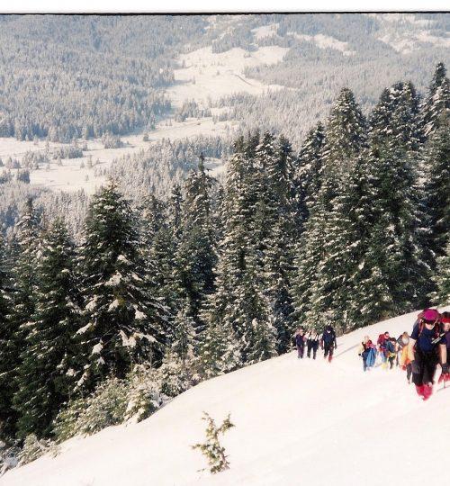 1998-12-26 Κόζιακας. Δεξιά κορυφή Αστραπής. Ανάβαση με ΕΟΣ Θεσσαλονίκης1