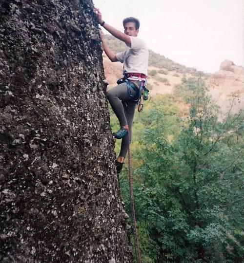 1999-09-20 Μετέωρα. Δυτικός τοίχος (Ostwand) 30μ V+. Βράχος Μικρός τοίχος - Βορειοανατολική κορυφή